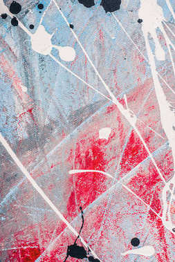 abstract colored texture with white oil paint splatters