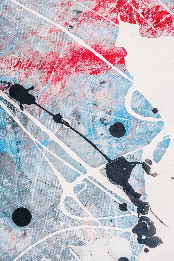 Splatters of white and black oil paint stock vector