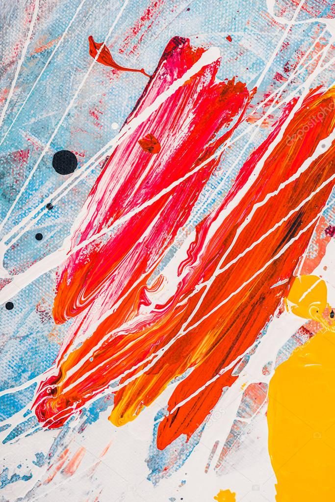 Oil paint splatters on abstract multicolor background stock vector