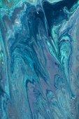 Fotografie zblízka olejomalba modrá jako abstraktní pozadí