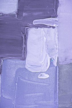 purple brush strokes on abstract oil painting