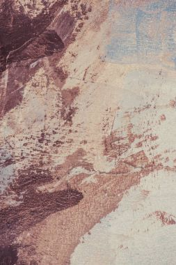 Brown brush strokes on beige oil painting stock vector
