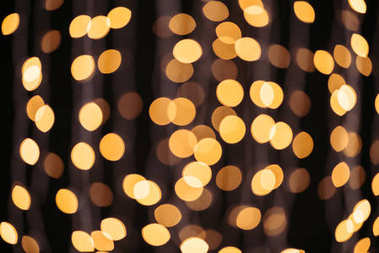 abstract shining golden bokeh background