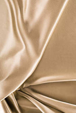 golden crumpled satin fabric background