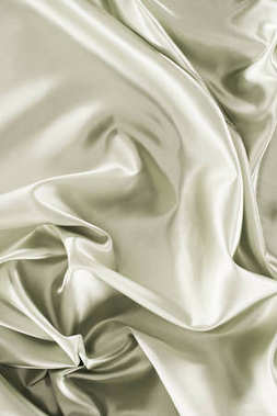 silver green shiny silk fabric background