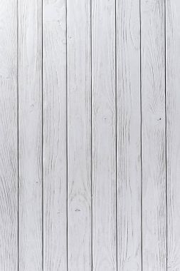 Wooden fence planks background painted in white stock vector
