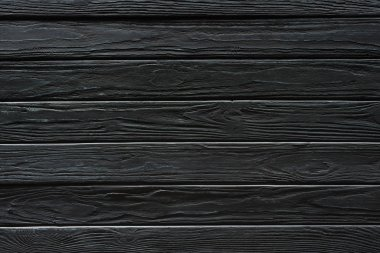 Carpentry template with black wooden planks