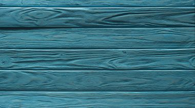 Wooden fence horizontal planks background painted in turquoise stock vector