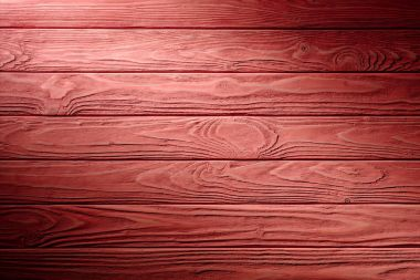 Carpentry template with red wooden planks
