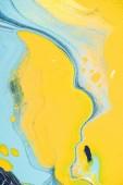 žlutá a světle modrá Akrylová malba jako abstraktní pozadí tvůrčí