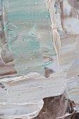 abstraktní pozadí tvůrčí s béžovou a světle modré tahy olejové barvy