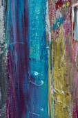 uměleckého pozadí s tahy štětce modré, žluté a fialové olejové barvy