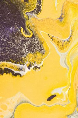 Abstract texture with yellow oil paint stock vector