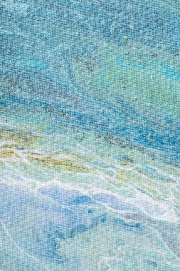 abstract creative background with light blue acrylic paint