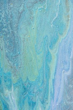 Close up of abstract background with light blue acrylic paint stock vector