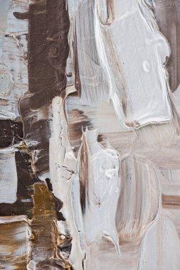 """Картина, постер, плакат, фотообои """"крупным планом бежевых и коричневых мазков масляной краской маслом натюрморт картина портрет зима"""", артикул 190908222"""