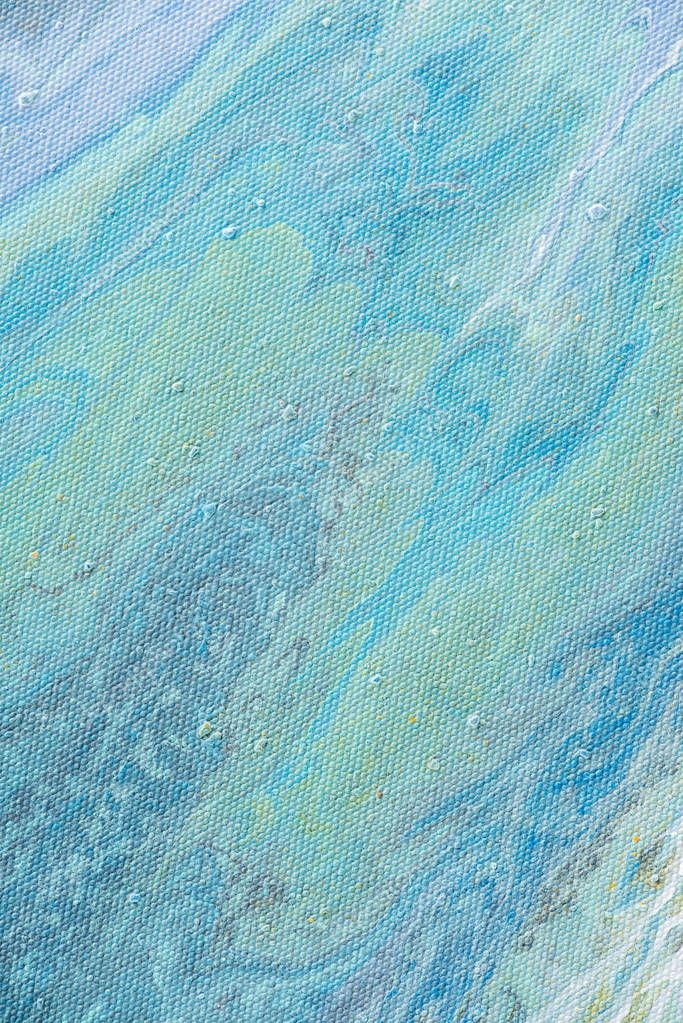 Close up of abstract texture with light blue acrylic paint stock vector