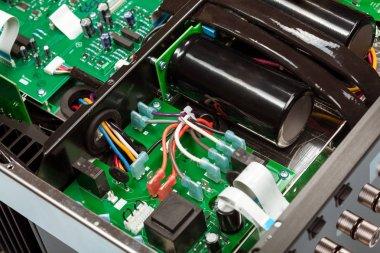Closeup view of electronic circuit board