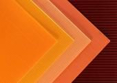 Fotografia vista superiore della disposizione delle sfondo di fogli di carta colorata