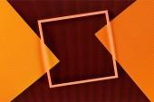 Fotografie pohled shora uspořádání barevné listy a pozadí rámečku