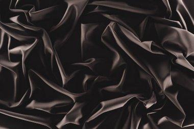 Full frame of folded dark silk cloth as background stock vector