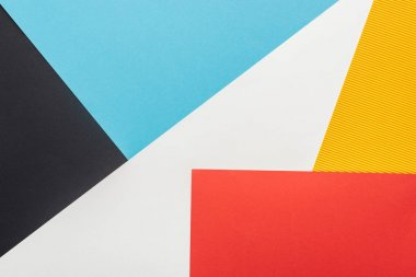 top view of colorful abstract geometric background