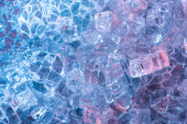 Fotografie Draufsicht auf abstrakten blauen Kristall strukturierten Hintergrund