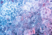 Draufsicht auf abstrakten blauen Kristall strukturierten Hintergrund