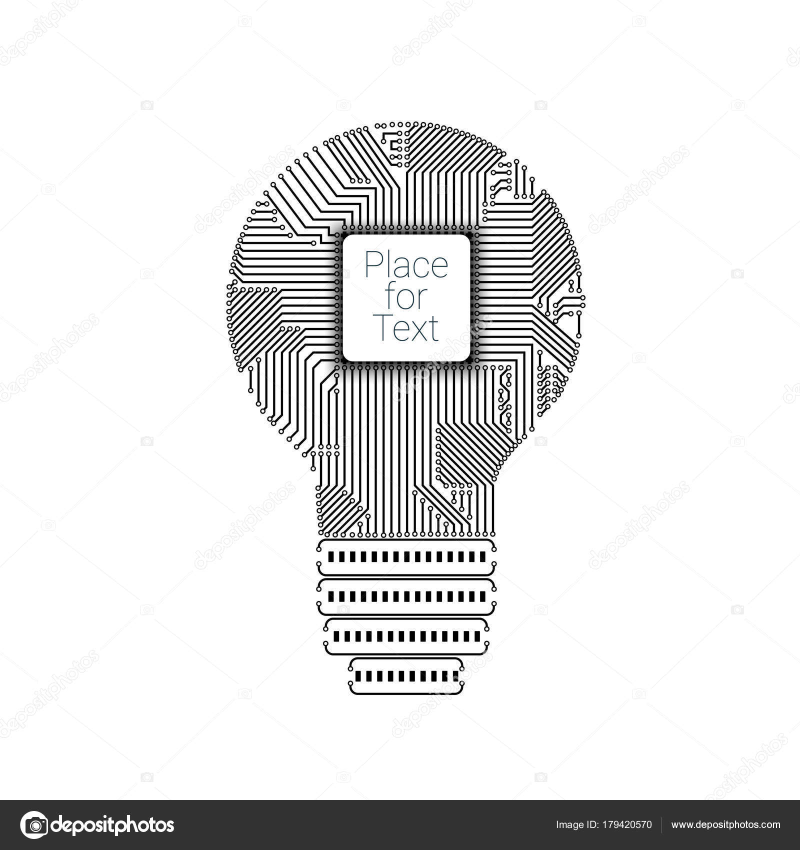 Light bulb idea icon with circuit board inside — Stock Vector ...