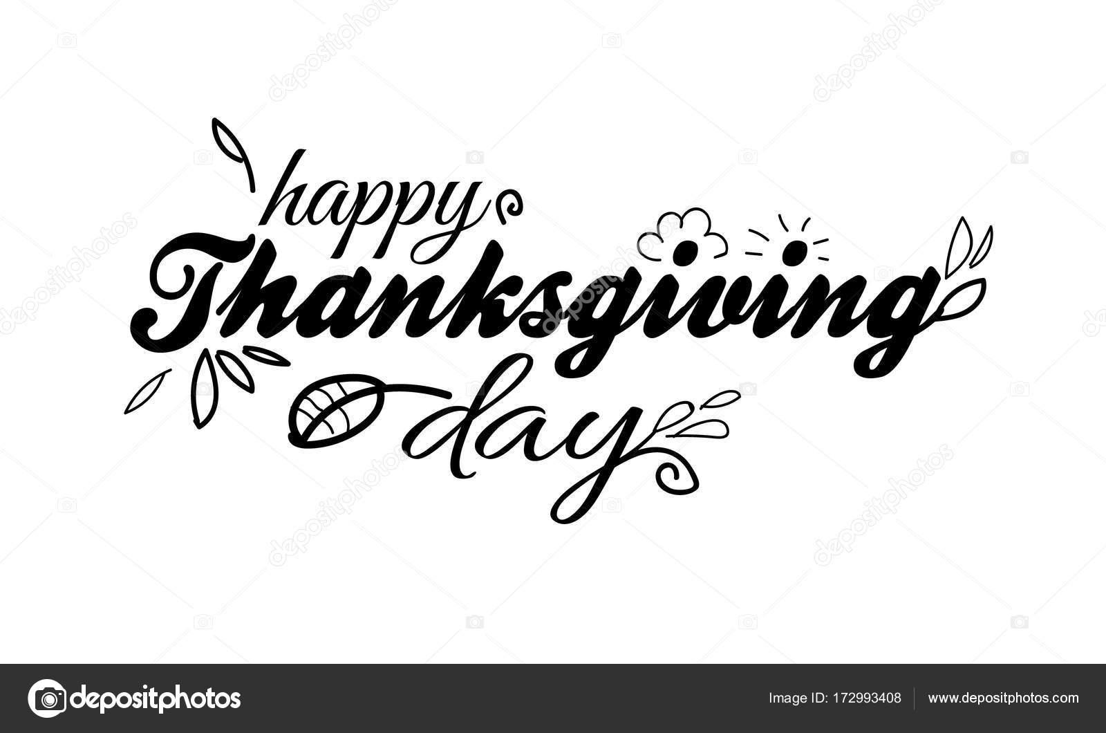 Feliz día de acción de gracias plantilla de letras sobre fondo ...