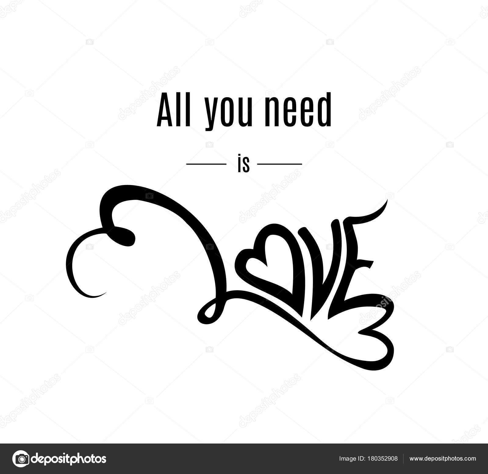 Alles Sie Brauchen Ist Liebe Vorlage Für Happy Valentines Day ...