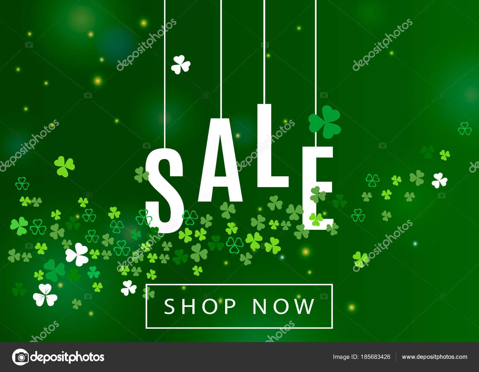 Beautiful Ireland Background Patrick Day Sale Poster Banner Design Vector Stock Vector C Arakolog 185683426