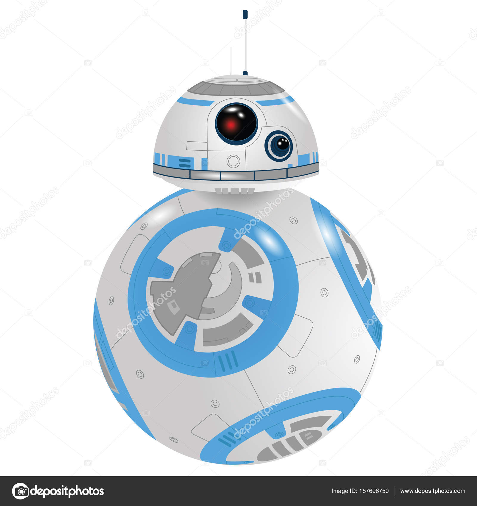 desenho vetorial bb8 droid vetores de stock vectoruss 157696750