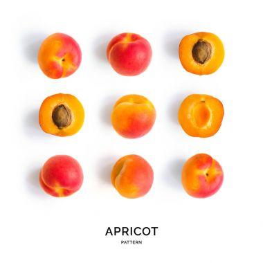 Seamless pattern with apricot