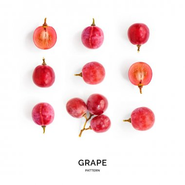 Pattern of grapes laid out symetrically