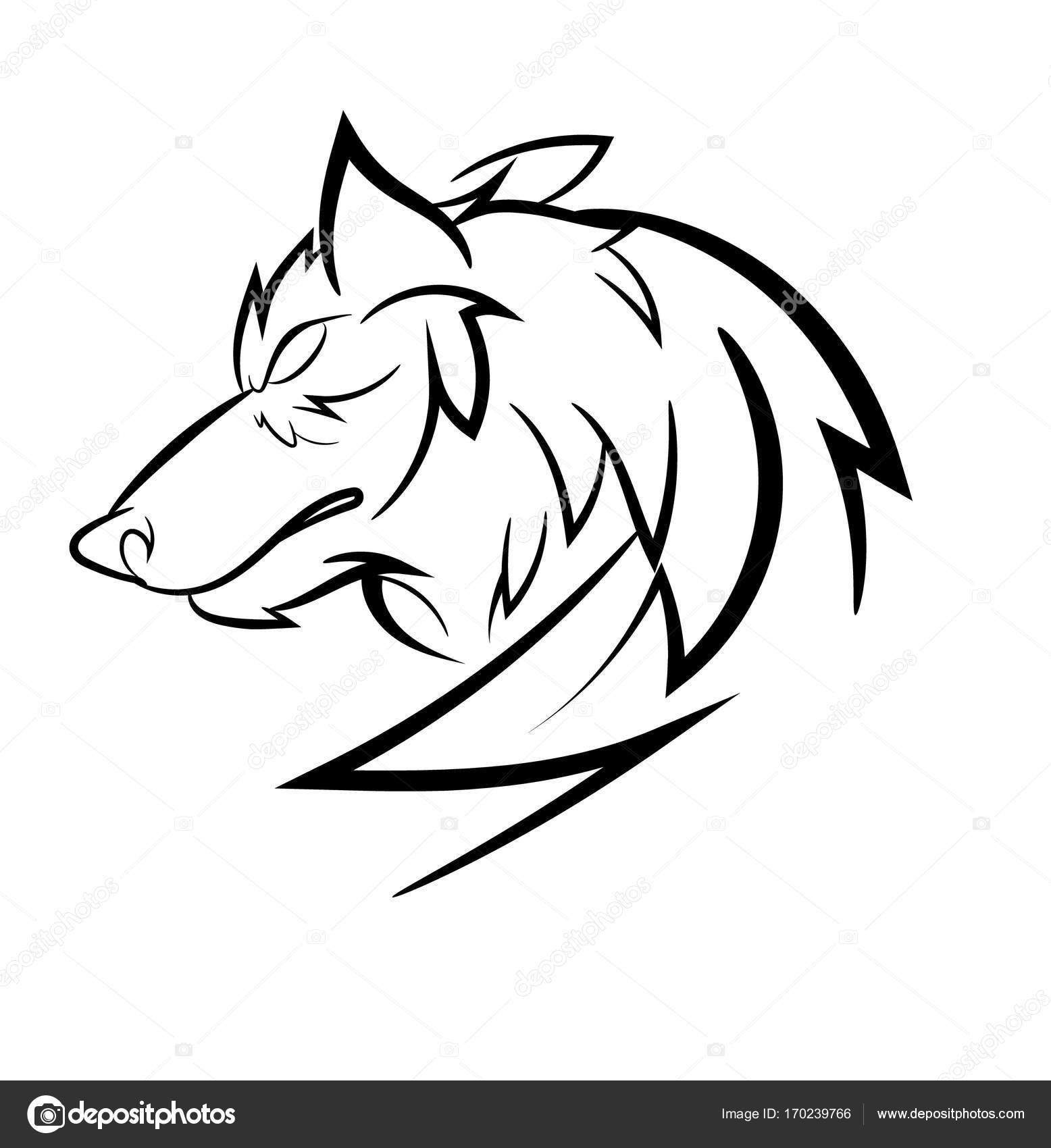 Wolf Loggo Design Stock Vector C Lionimageone Gmail Com 170239766