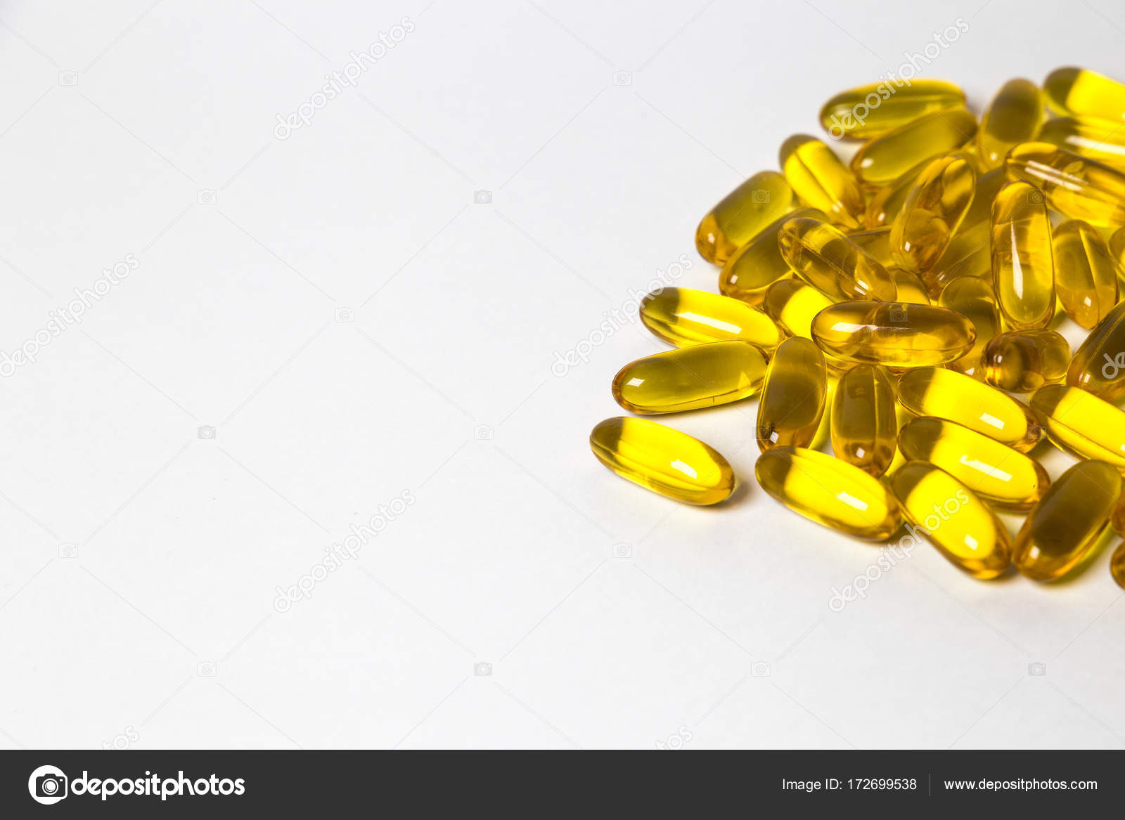 Omega 3 6 9 In Capsules Isolated On The White Background
