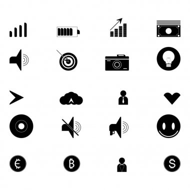 Set of technology icons. Icon collection for web design.