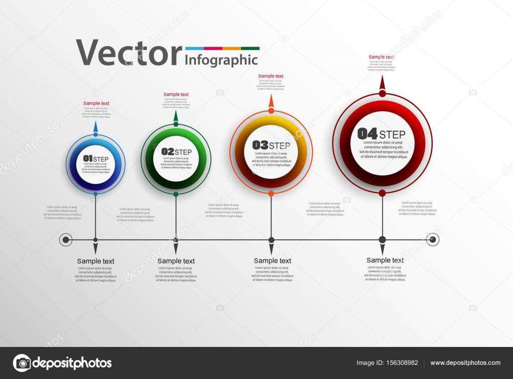 Vector Infographics Timeline Design Template Can Be Used For - Timeline design template
