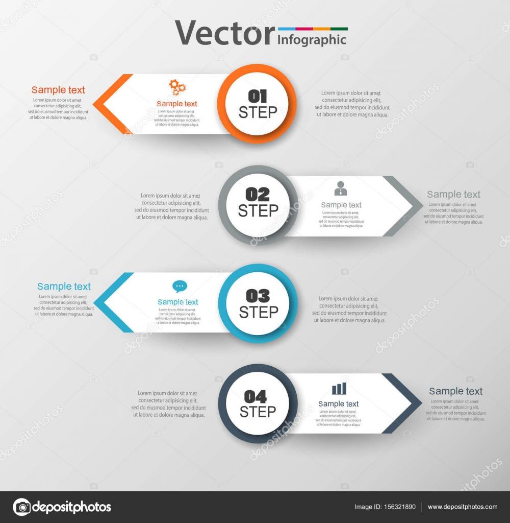 Infografik-Design-Vorlage kann verwendet werden, für Workflow-Layout ...