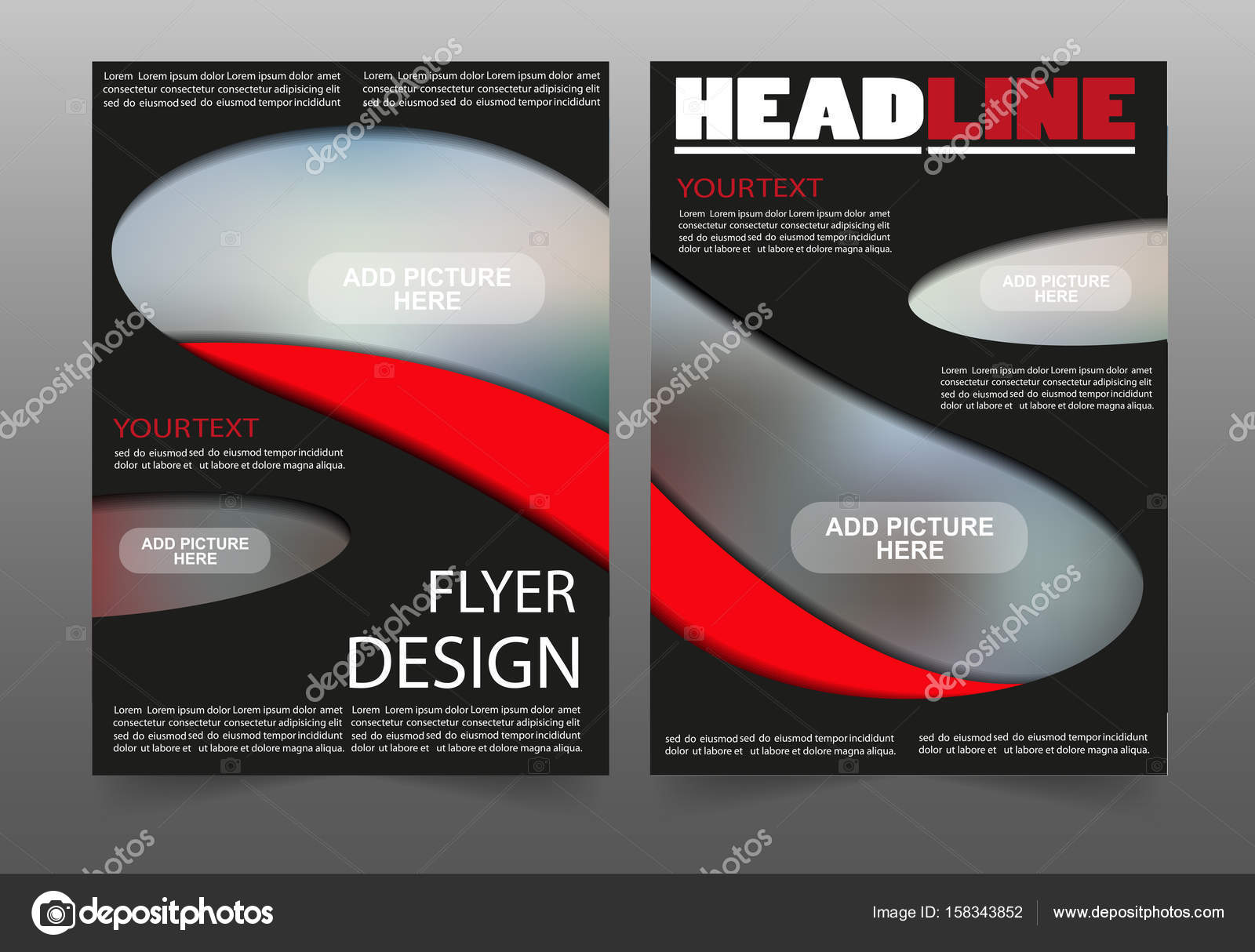 Red and black poster business brochure flyer design layout template ...