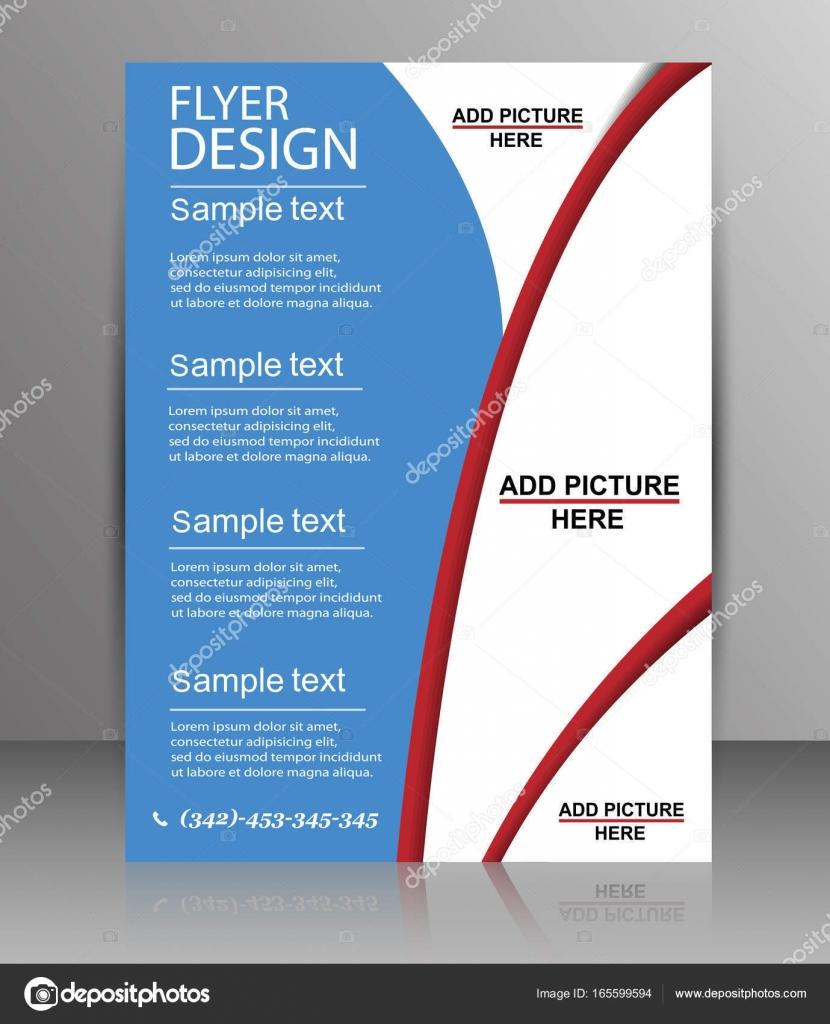 Broschüre Design - Flyer Vorlage Vector — Stockvektor © andreyorb ...