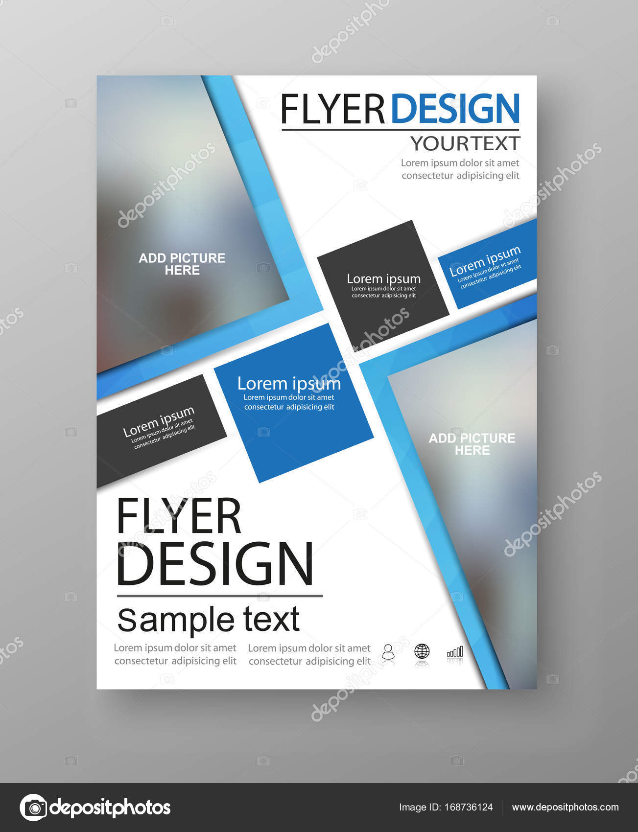 business flyer design can be used for art template design list