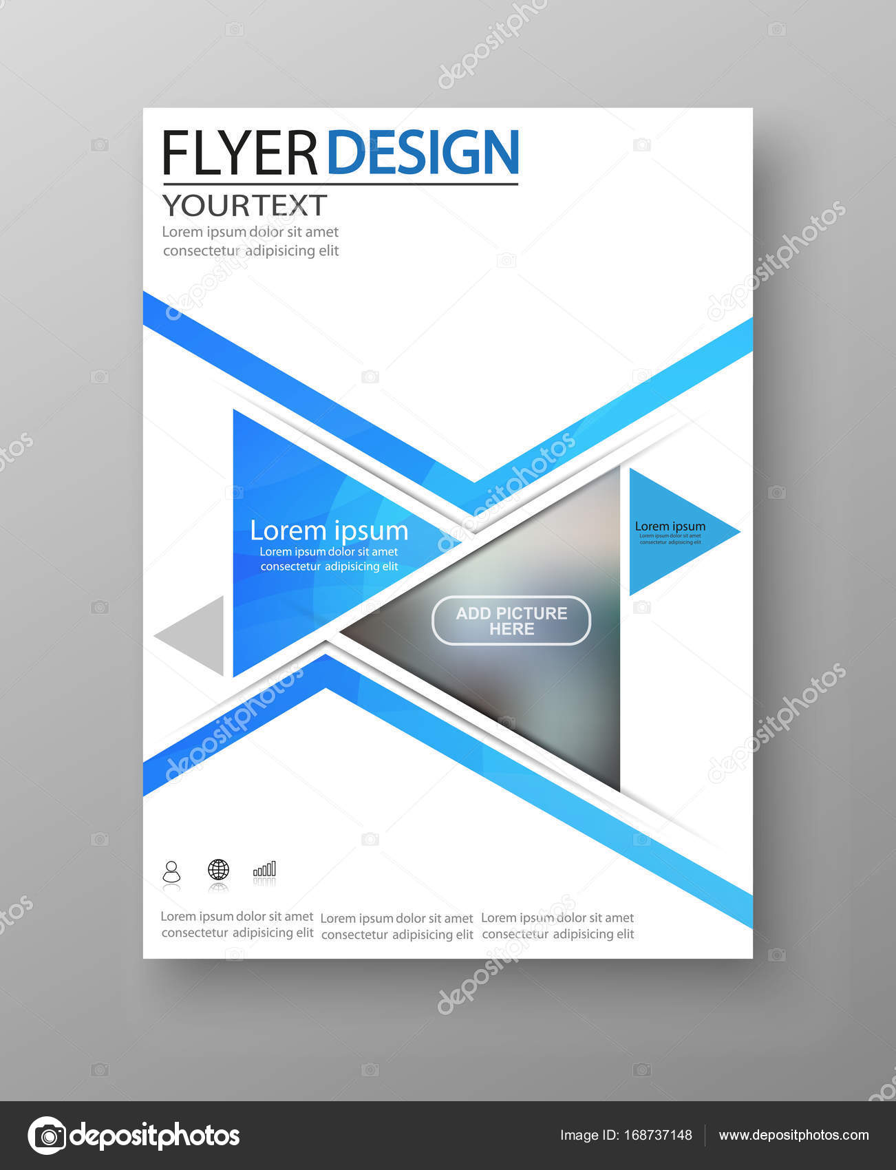 business flyer design for art template design list front page