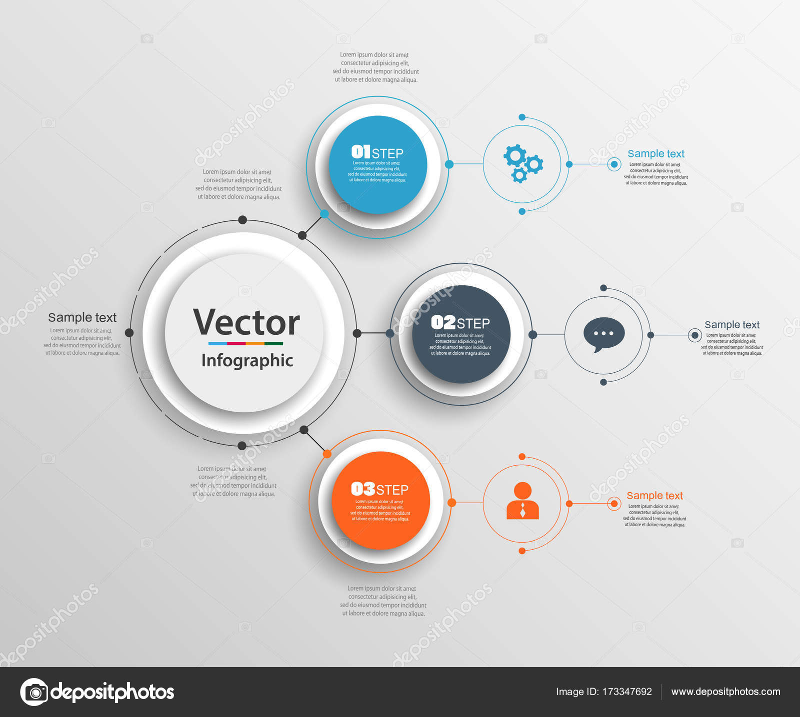 Abstract infographics number options template with 3 steps can be abstract infographics number options template with 3 steps can be used for workflow layout diagram business step options banner web design ccuart Choice Image