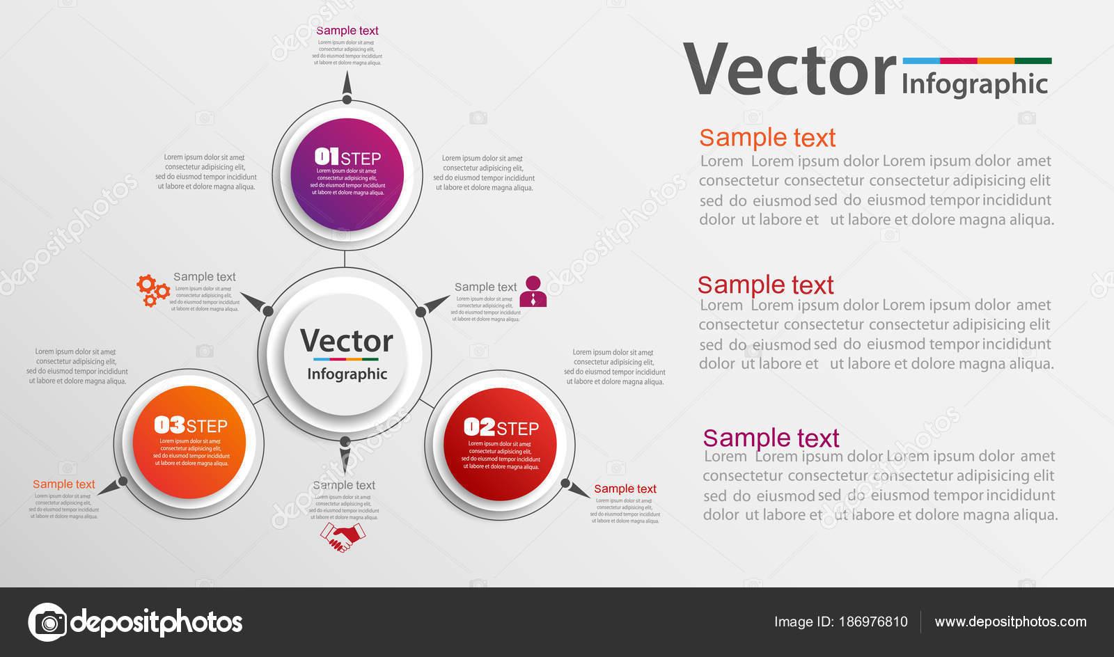 Plantilla Diseño Infografía Puede Utilizarse Para Diseño Flujo ...