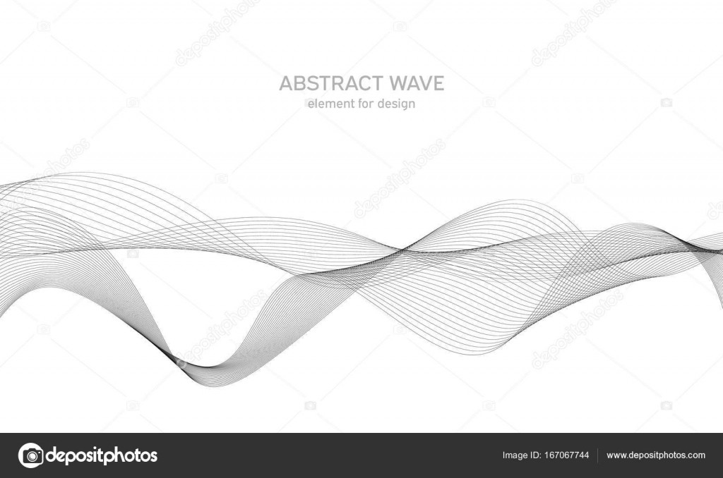 Line Art Ribbon : Abstract wave element for design. digital frequency track equalizer