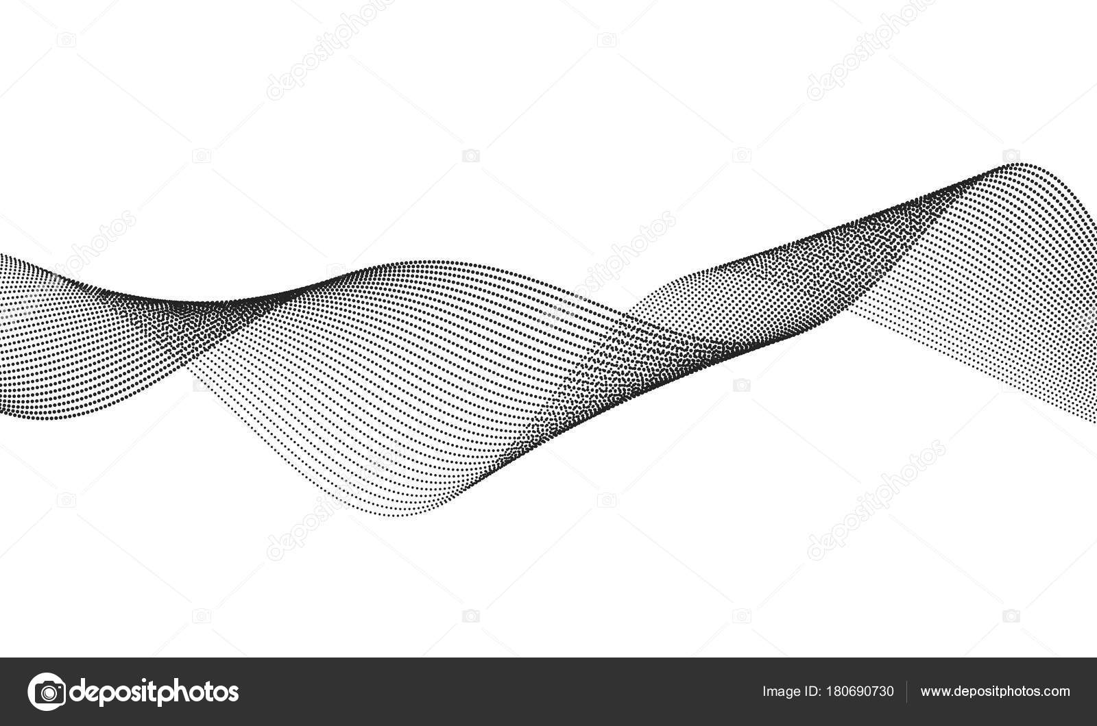 Line The Art Element : Abstract wave element for design digital frequency track