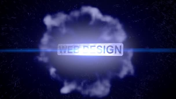 Web design intro outro title show animation