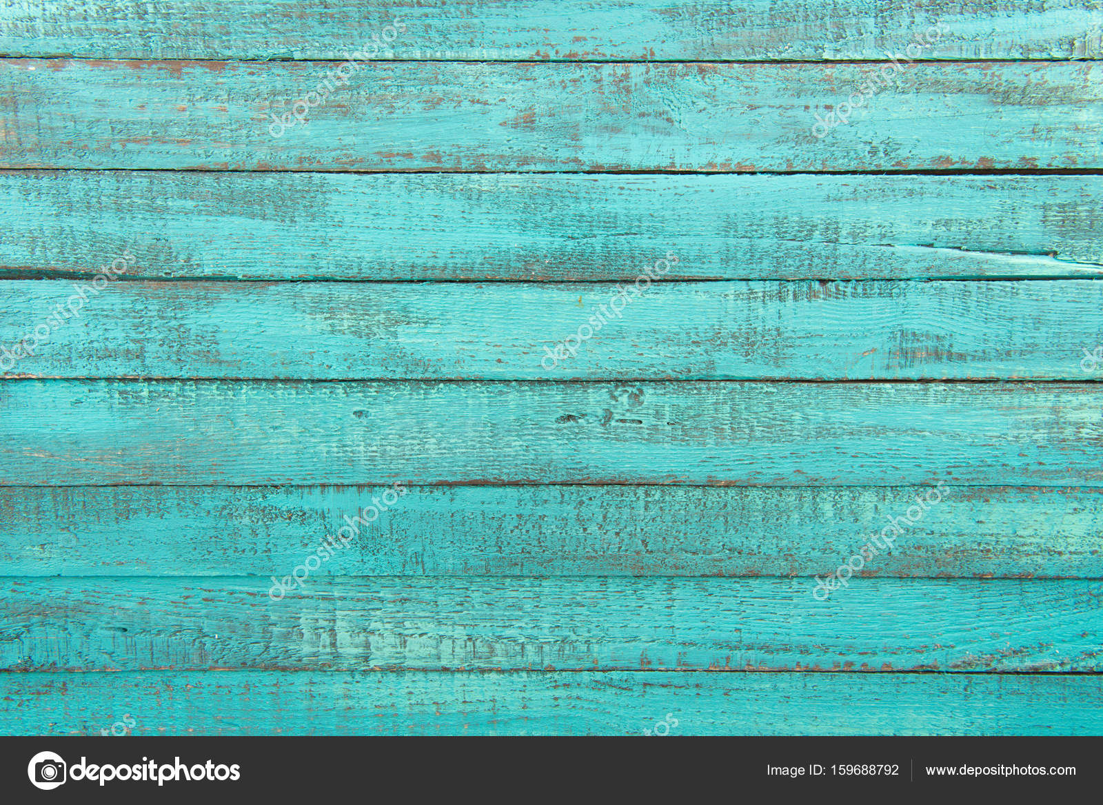 Top View Of Decorative Rustic Turquoise Wooden Background With Horizontal Planks Photo By AntonMatyukha